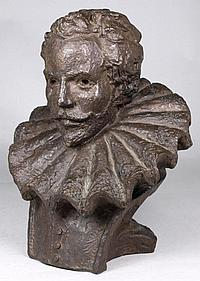 Kenneth Carter [b.1928] - Bust of Sir Walter