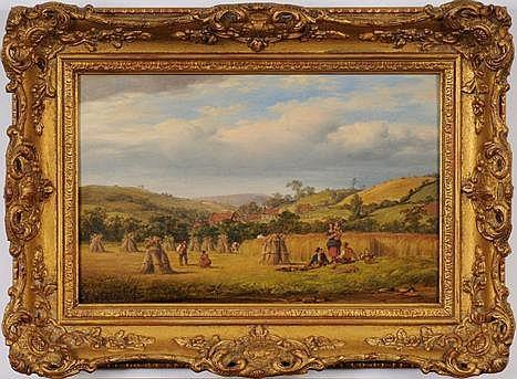 Circle of Benjamin Shipham (1806-1872) A harvest