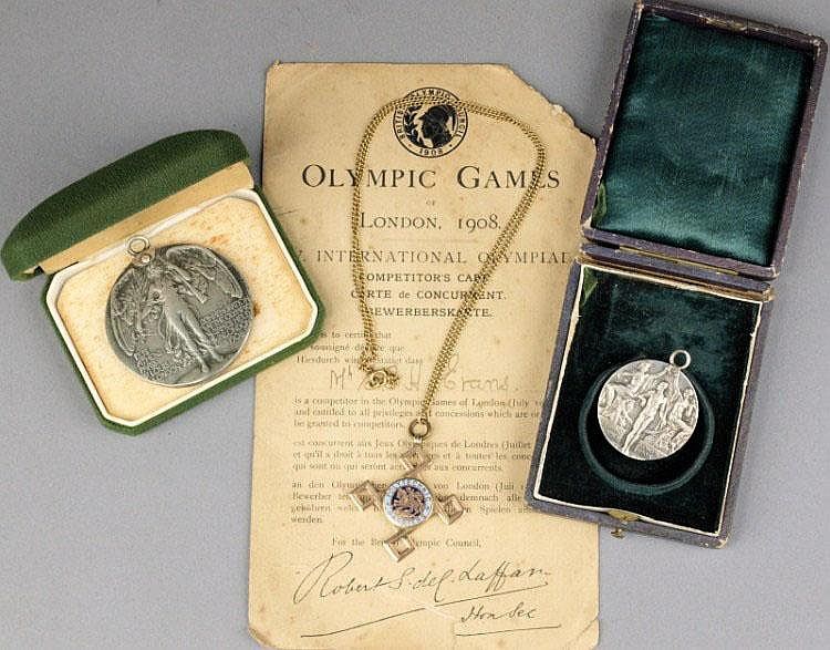 The London 1908 Olympic Games Silver medal for