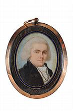 English School circa 1800- Miniature portrait of a