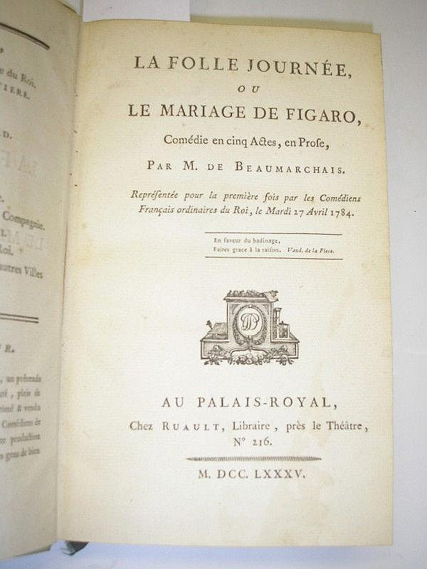 BEAUMARCHAIS, Pierre Augustin Caron de. La Folle