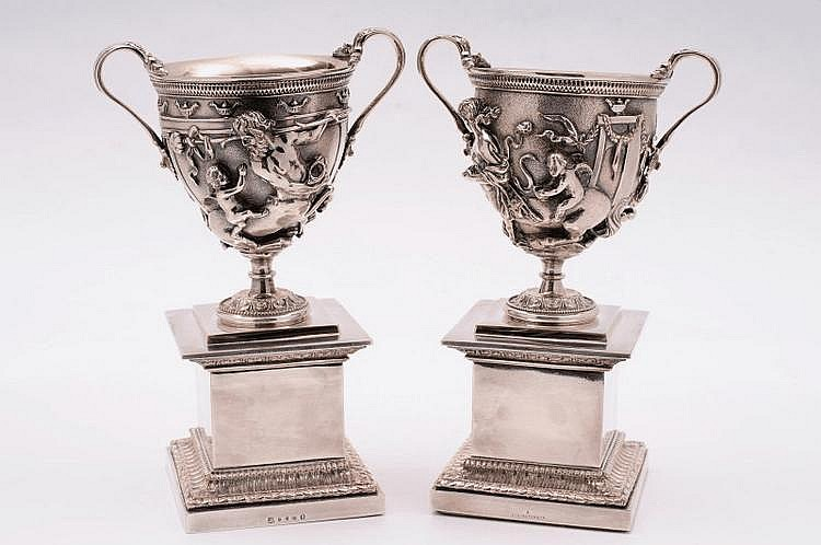 A pair of late Victorian electroplated