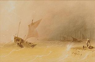 Jean Le Capelain (St Helier 1812 - 1848) Returning