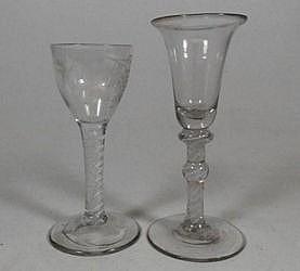 A Dutch soda glass:, air twist stem wine goblet
