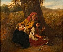 W. H Hardy [late 19th Century]- Children picking flowers and resting in a Summer landscape:- signed bottom right oil on canvas 49.5 x 59.5cm.