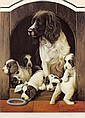 Nigel Hemming (born 1957) - Study of a spaniel and, Nigel Hemming, Click for value