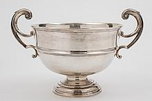 A George V silver two handled presentation bowl,