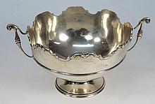 A George V silver two handled rose bowl, maker d &