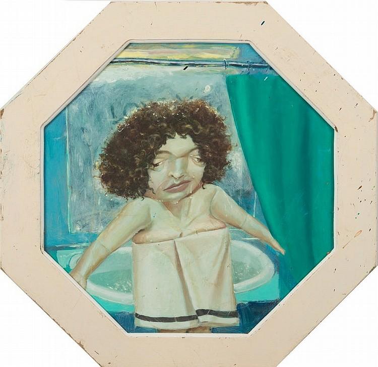 * David Eustace [b.1950]- My beautiful bath:-