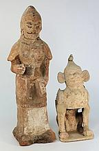 A Chinese pottery warrior and an earth spirit: the