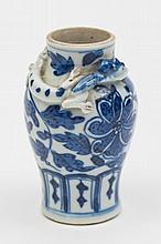 A Chinese blue and white miniature vase: of
