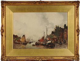 ¥ John Ernest Aitken [1881-1957] A Busy Haven