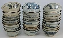Tek Sing Cargo - Thirty Chinese porcelain bowls: