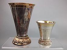Goldemann, Hamburg, two silver and silver gilt