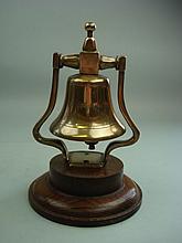 HMS Ajax-a bronze bridge type bell from the ship's