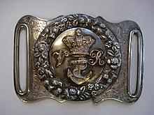 A Victorian silver and silver plated Royal Naval