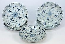 Tek Sing Cargo - Five Chinese porcelain plates: of