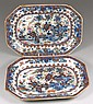 A pair of Chinese porcelain plates with European