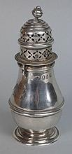 A Victorian Brittania silver caster, maker Charles