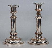 A pair of Sheffield plated telescopic