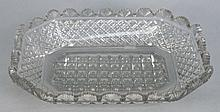 A Waterford glass shallow dish: of canted