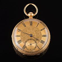 H.L.Brown. A gentleman's 18ct gold key wound openf