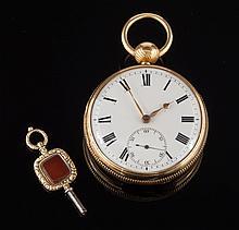 John Ross. A gentleman's 18ct gold key wound open