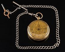 Upjohn. A lady's 18ct gold openface pocket watch: