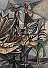 * John Chretien [1902-1999] -  Guinea Fowl:  water, John Chretien, £60
