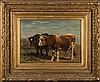Johannes H. L. de Haas [1832-1908]- Bulls in a fie, Johannes Hubertus Leonardus