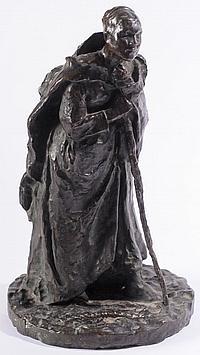 Jules Bastien-Lepage (1848 - 1884) A bronze study