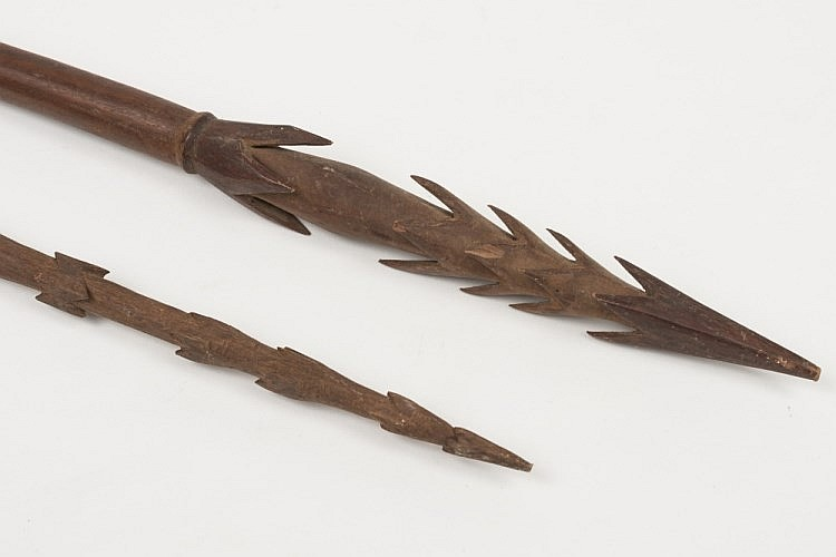 A tribal fishing spear possibly polynesian for Fishing spears for sale