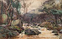 William Widgery [1822-1893]- 'On The Lyn, North Devon':- watercolour 40 x 6