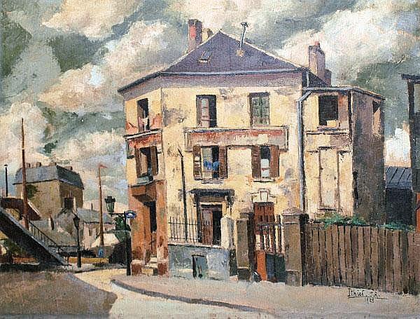 John Robert Ithier (1904-1977) - Street scene on