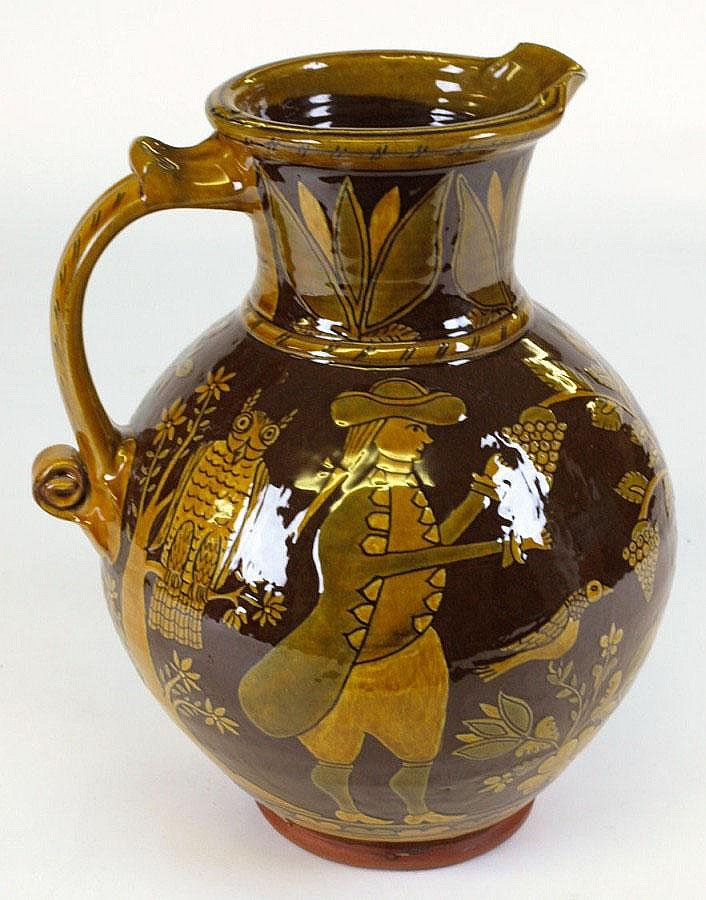 John Pollex, an earthenware harvest jug with