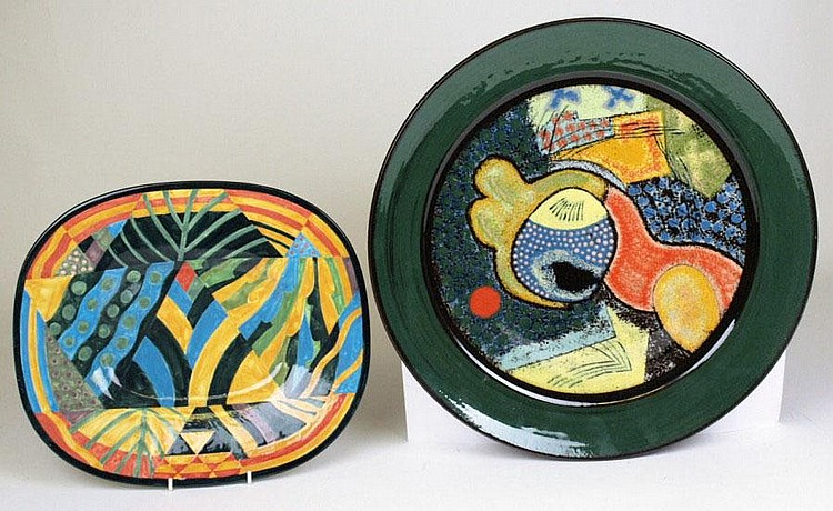John Pollex, an earthenware plaque of circular