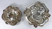 An Art Nouveau influence sterling silver bowl: