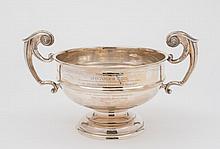 A George V silver pedestal rose bowl, maker John