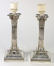A pair of George VI Corinthian column