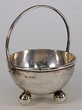 An Elizabeth II hammered silver cream pail, maker