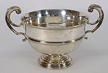 A George V silver two-handled presentation bowl,