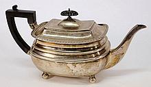 A George V silver teapot, maker James Dixon &