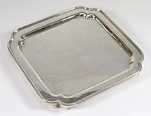 A George VI small silver square waiter, maker Page