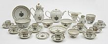A Chinese armorial part tea and coffee service: