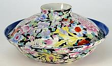 A Chinese millefleurs bowl and cover: painted in