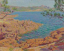 Maurice ELIOT (1864-1945) Les roches rouges, 1895