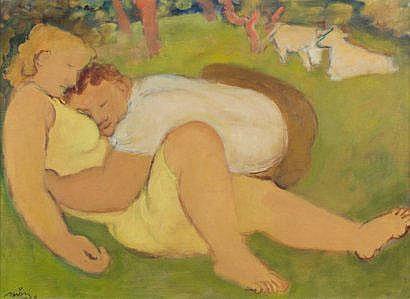 Maurice SAVIN (1894-1973) La sieste dans les prés,