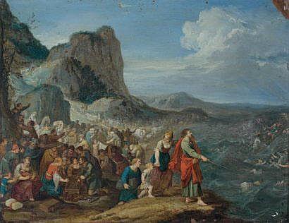 Hans JORDAENS (Vers 1595-1643/1644) Moïse et le