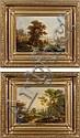 J. BURGARITZKI Paysage animé Deux huiles sur toile, Josef Burgaritzky, Click for value