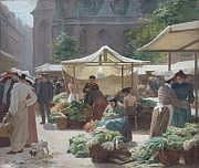 Victor GILBERT (1847-1933) Scène de marché